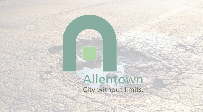 ALLENTOWN POTHOLE HOTLINE IN OPERATION