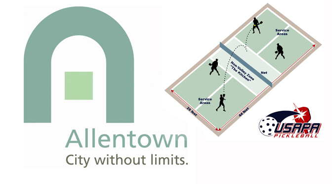 ALLENTOWN OFFERS SEVEN OUTDOOR PICKLEBALL COURTS