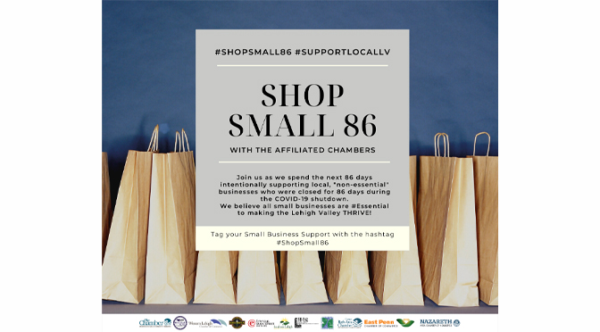 Shop Small 86 with the Lehigh Valley Chamber's Affiliated Chambers Team