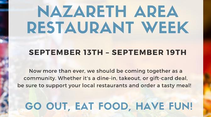 Nazareth Area Restaurant Week 2020
