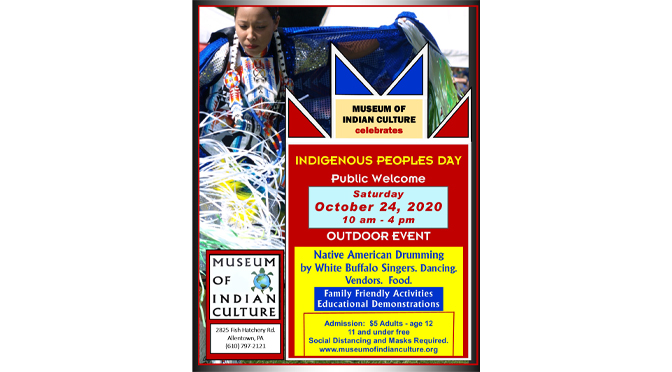 """Museum of Indian Culture's """"Indigenous Peoples Day Celebration"""" Outdoor Event – ***RESCHEDULED TO OCTOBER 24, 2020***"""