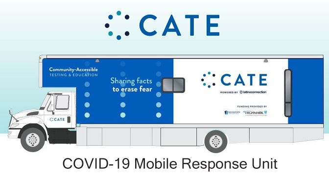 Mayor Sal Panto, Jr. and Community Partners  Welcome CATE Mobile COVID-19 Testing Unit in Easton