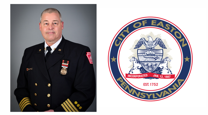 Easton Mayor Panto announces promotion of Acting Fire Chief Henry Hennings to Easton Fire Department Chief