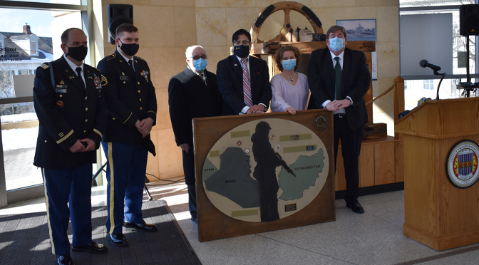Donation of a wall monument to the VA Office by the Post 611 American Legion
