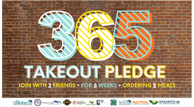 As a One-Year Anniversary Approaches, the Lehigh Valley's  #365TakeoutPledge Aims to Support Local Restaurants