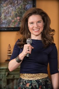 Actress, artist and comedian, Kate Hughes will serve as emcee and auctioneer.