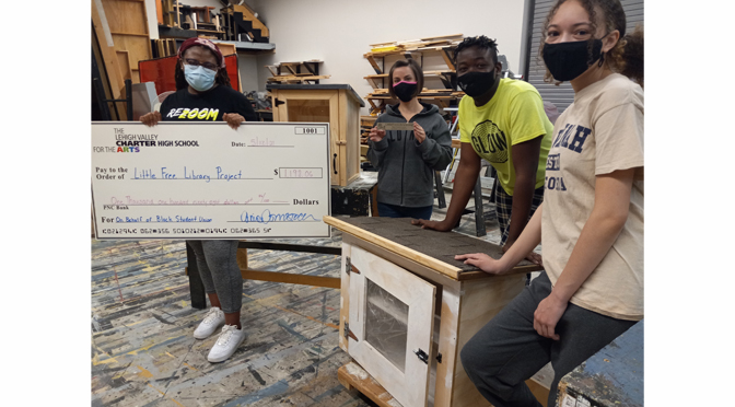 Lehigh Valley Charter High School for the Arts Black Student Union raises funds for Free Little Library Project