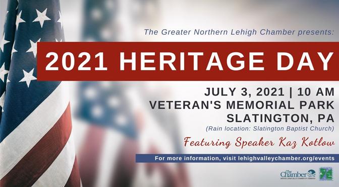 Slatington's 'Heritage Day' Returns on July 3rd, 2021!