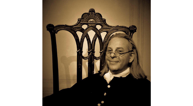 LIBERTY BELL MUSEUM OPENS WITH NO APPOINTMENTS NEEDED AND WELCOMES BEN FRANKLIN IMPERSONATOR MITCHELL KRAMER IN JULY 4TH PROGRAM
