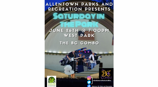 """THE BC COMBO BRINGS THEIR BLUES/JAZZ FLARE TO WEST PARK ON JUNE 26 AS PART OF THE """"SATURDAY IN THE PARK"""" CONCERT SERIES"""