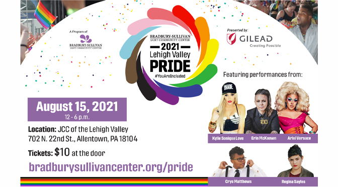 2021 Lehigh Valley Pride Returns to In-Person Celebration on August 15