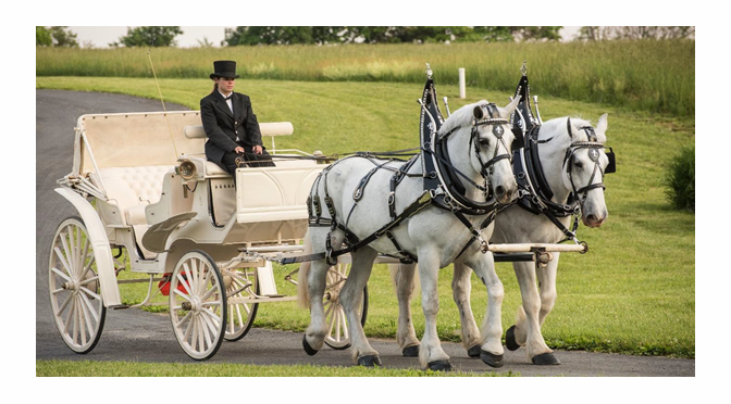 HORSE-DRAWN CARRIAGE RIDES AT THE PROMENADE SHOPS AT SAUCON VALLEY