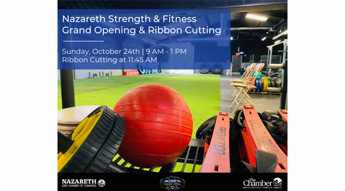 Grand Opening & Ribbon Cutting Ceremony to be held for Nazareth Strength & Fitness