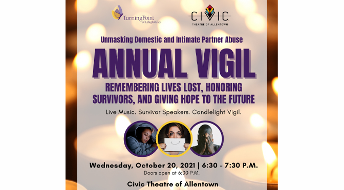 Turning Point of Lehigh Valley to Hold Annual Domestic Violence Vigil Tonight