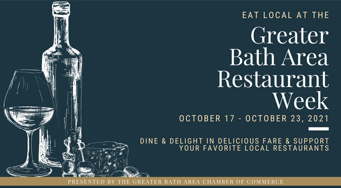 2nd Annual Greater Bath Area Restaurant Week to begin  on Sunday, October 17th