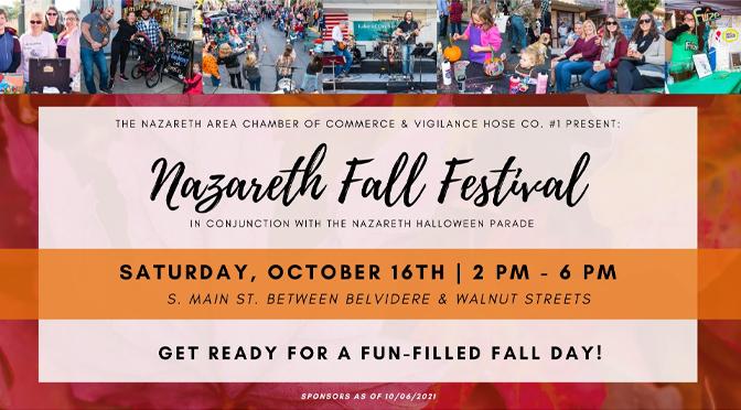 Nazareth Area Chamber to host 3rd Annual Nazareth Fall Festival